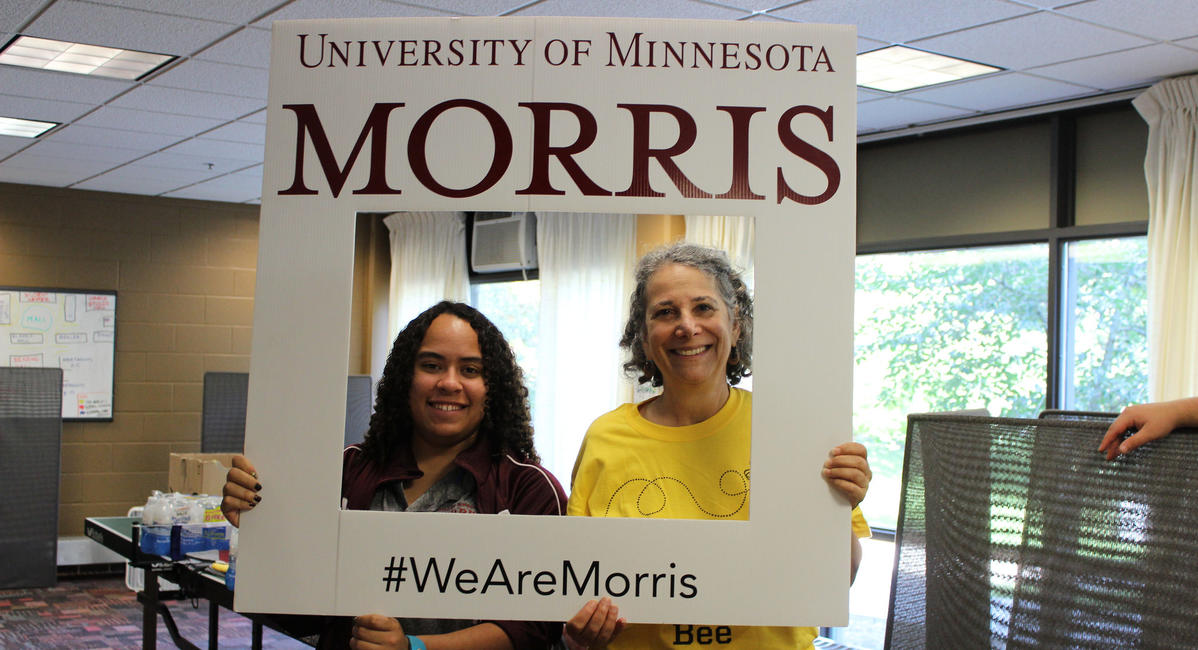 #WeAreMorris signage