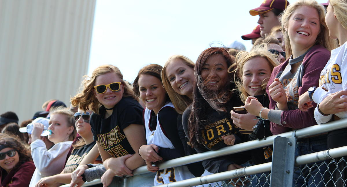 Cougar football fans in the stands at the Homecoming game