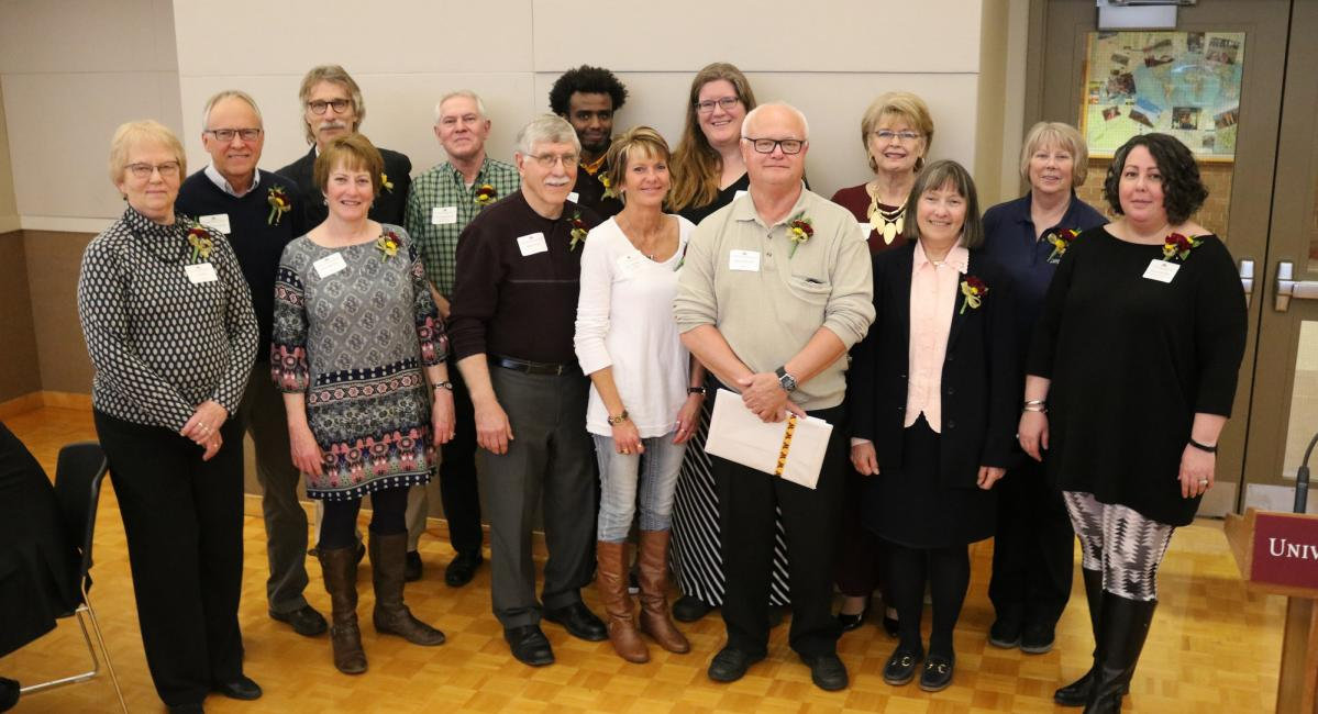 Faculty and staff members at the annual Recognition Dinner.