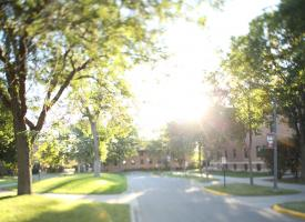 The Morris campus on a summer day