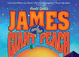 A poster for a production of James and the Giant Peach