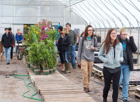 Students at the West Central Research and Outreach Center