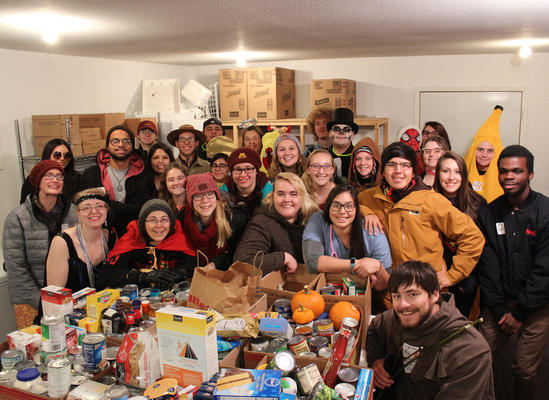 Students at Trick or Can